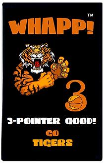 Custom Whapp! 3-Point Shot Tiger Rally Towel