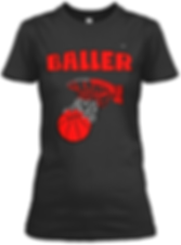 Baller black and red  fitted tee.png