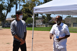 Gregory Williams on set in Watts, CA