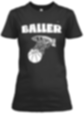 Baller black  fitted tee.png