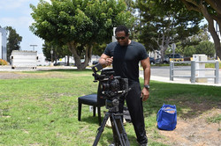 Checking on Film Equipment