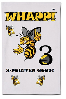 Custom Whapp! 3-Point Shot Yellow Jacket Rally Towel