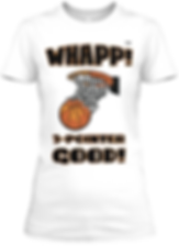 Womens Whapp! Fitted White Basketball Te