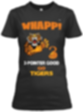Whapp! 3-point shot tIGER logo  fitted t