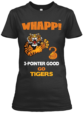 Whapp! 3-Point Shot Women's Tiger Fitted Tee