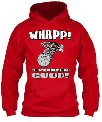 Whapp! 3-Point Shot Red Hoodie