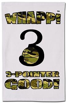 Custom Whapp! 3-Point Shot Camouflage Rally Towel
