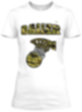 Womrn's Baller Basketball Camouflage  Fitted tee
