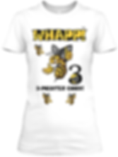 Whapp! 3-point shot Bee logo  fitted tee