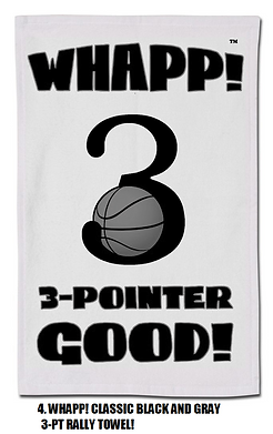 4.  Classic Black and Gray Whapp! Rally Towel