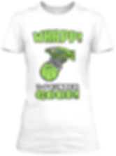 Whapp! 3-point shot women's rally lime t