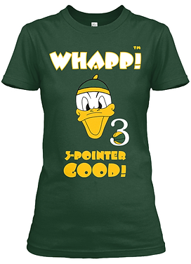 Whapp! 3-Point Shot Women's Duck Fitted Tee