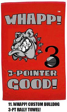 Whapp! 3-Point Shot Rally Towel