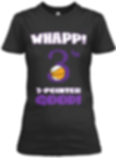 Whapp! 3-point shot purple black and whi