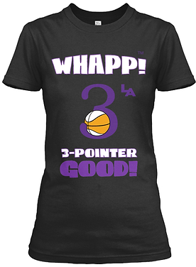 Whapp! 3-Point Shot Women's Fitted Tee