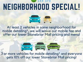 Mobile Detailing Neighborhood Special!