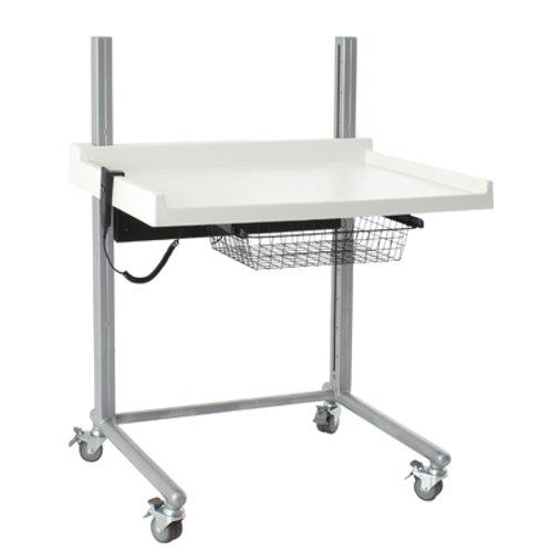 Elektrisk frittstående stellebord med hjul20363