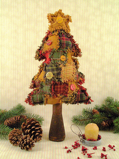 "ML185 - 18"" PRIMITIVE PATCHWORK TREE PATTERN/KIT"