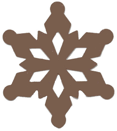 ML173A - RUSTED SNOWFLAKE