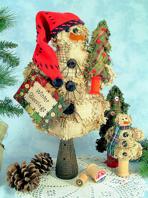 "ML201NB - 19"" VINTAGE PATCHWORK SNOWMAN PATTERN/KIT -NO BOBBIN"
