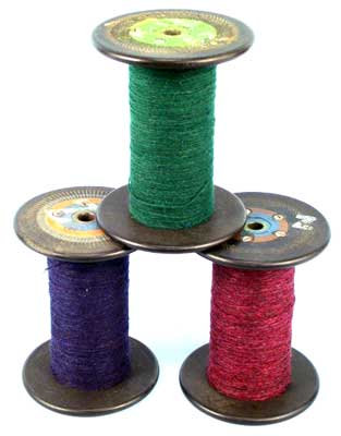 ML177YS - ANTIQUE YARN-WRAPPED SPOOLS