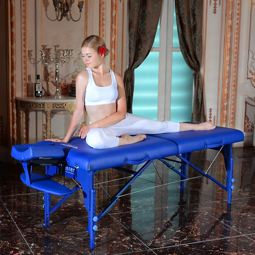 """Master Massage 31"""" Extra Wide Montclair Pro Portable Table Package Imperial Blue"""
