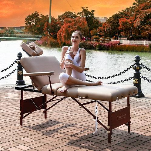 "Master Massage 30"" Del Ray Salon ThermaTop Tilt Backrest Portable Table Cream"