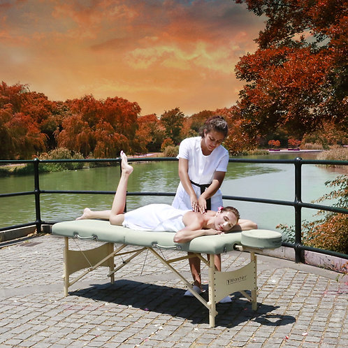"""Master Massage 28"""" Paradise Pro Portable Massage Table Package in Lily Green"""
