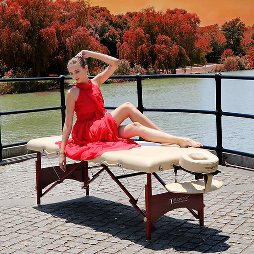 """Master Massage 28"""" Caribbean Pro Portable Massage Table Package in Beige"""