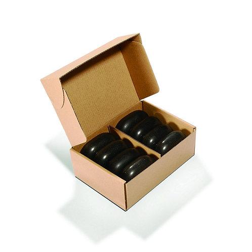 "Master Massage Large Flat Ovular Basalt Stone 8 piece Pack 3"" x 2.2 x 1.1 Rock"