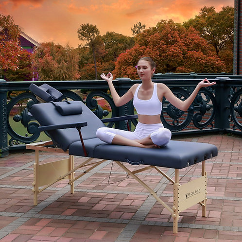 "Master Massage 31"" Coronado Salon Portable Table Beauty Bed Pacakge Royal Blue"