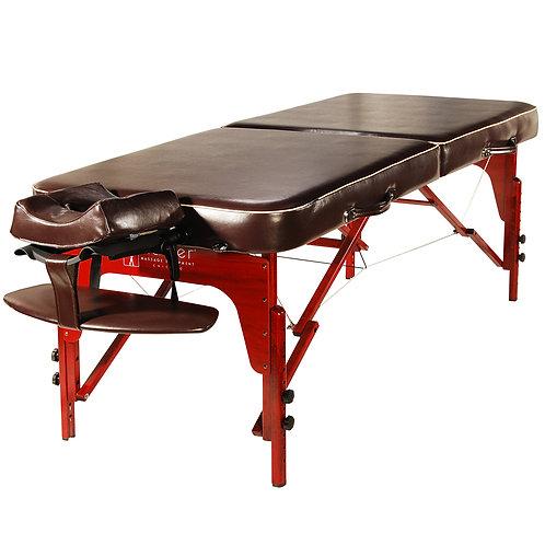 "30"" Monroe Memory Foam Portable Massage Table Beauty Bed brown Upholstery"