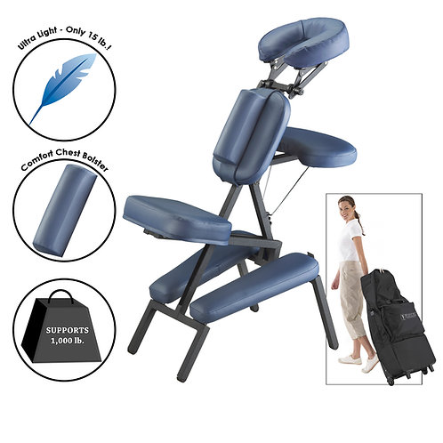 Master Massage Professional Portable Massage Chair Package w/Wheeled Case