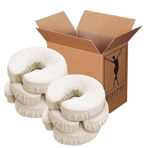 Master Massage Universal Face Pillow Cushion Headrest Cotton Covers 6 Pack Beige