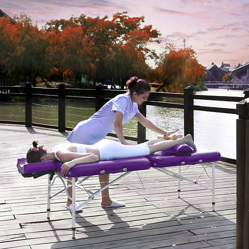 "Master Massage 30"" CalypsoLight Weight Portable Massage Table in King's purple"