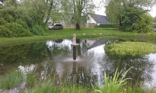 Sabro gadekær kan ikke holde på vandet