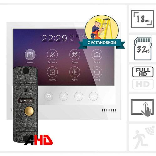 """Вызывная панель + сенсорный FullHD видеодомофон с памятью 7"""""""