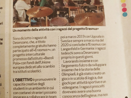 Erasmus+ in the local papers