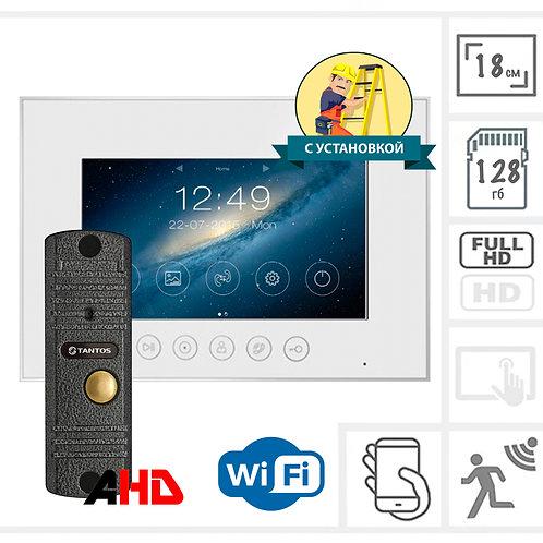 """Вызывная панель + WiFi Full HD видеодомофон с записью 7"""""""