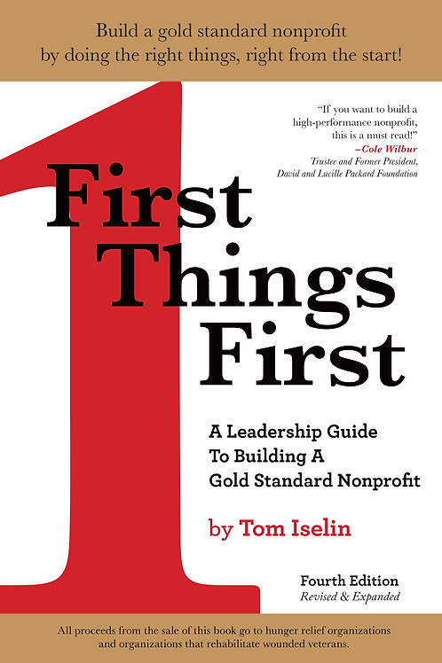 First Things First Book - Tom Iselin - Best Board Retreat Facilitator