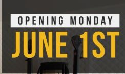 Reminder We WILL reopen Monday June 1st!
