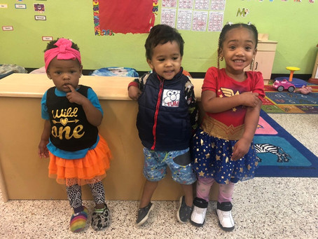 Today is Wacky Wednesday. Our VPK, and toddler classes & teachers are having a blast!