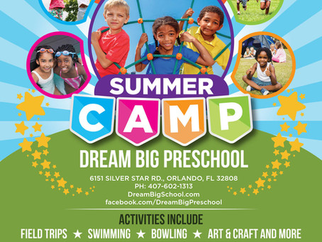 Dream Big Summer Camp 2019 Flyer