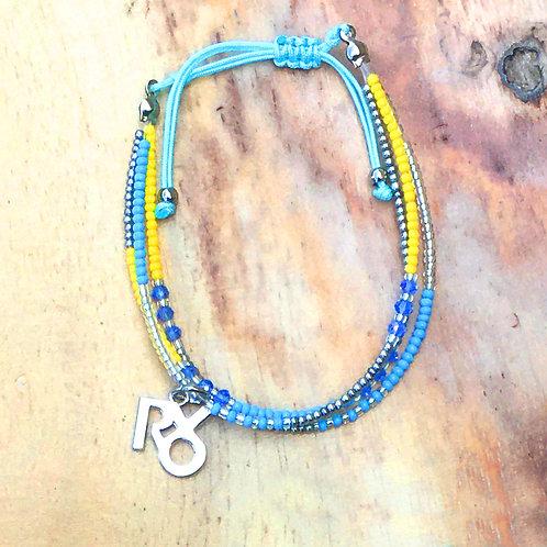 Petite Beads Yellow Blue