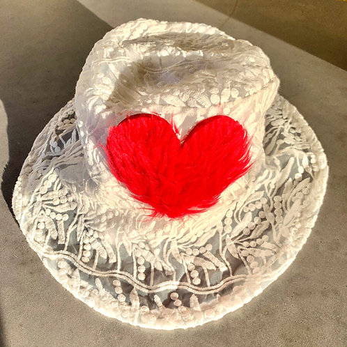 Warm and Fuzzy Heart Bucket Hat