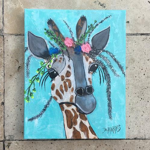 Giraffe Painting 11x14