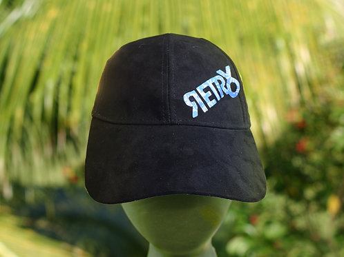 Black Velvet Yoyo Patch Hat