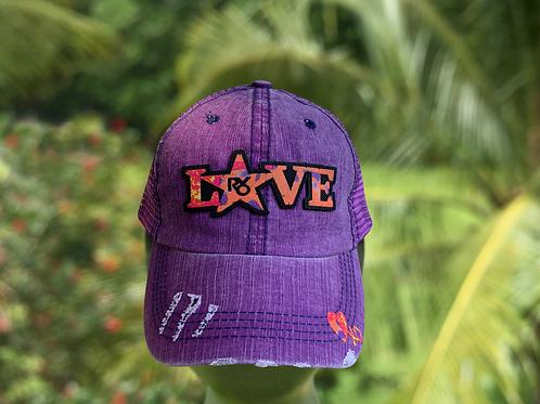 RXO LOVE Purple Hat xoxo