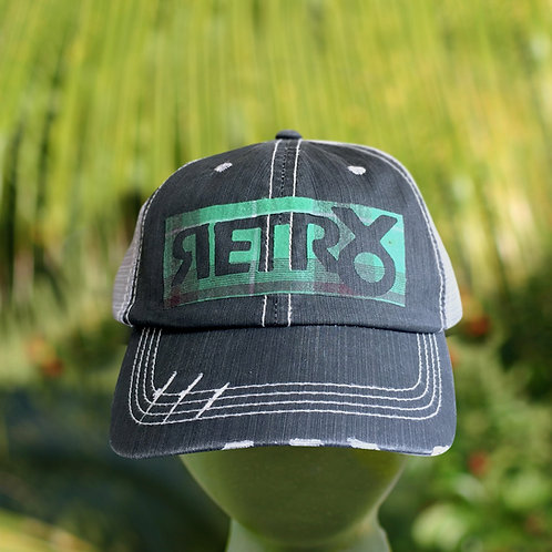 Washed up Retro block patch hat
