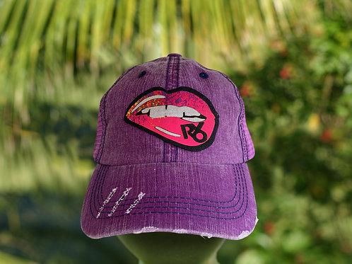RXO Flirt Purple Trucker Hat xoxo